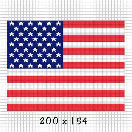 American Flag Stars Stripes Crochet Afghan Pattern Graph