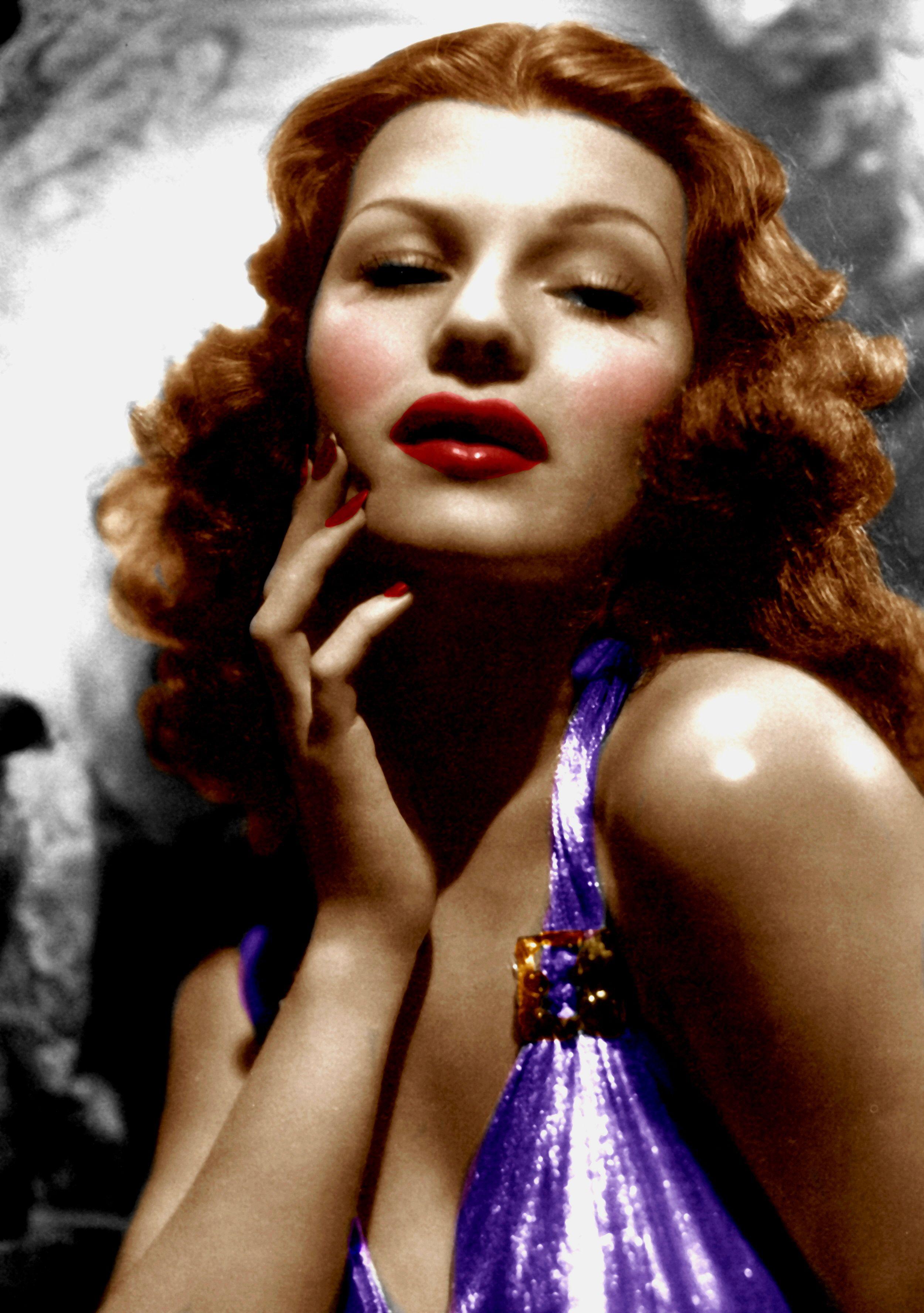 Rita Hayworth (Color by Brenda J Mills)   Rita Hayworth ...