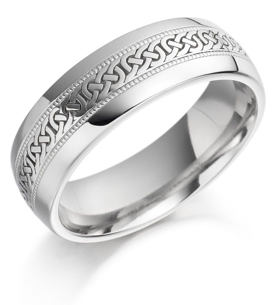White Gold Celtic Wedding Bands