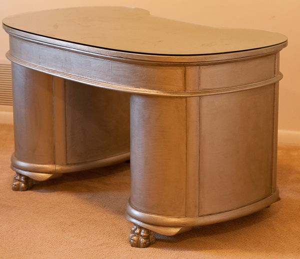 Martha Stewart Precious Metals Paint In Silver Leaf And Finished With  Valspar Antiquing Glaze In Asphaltum