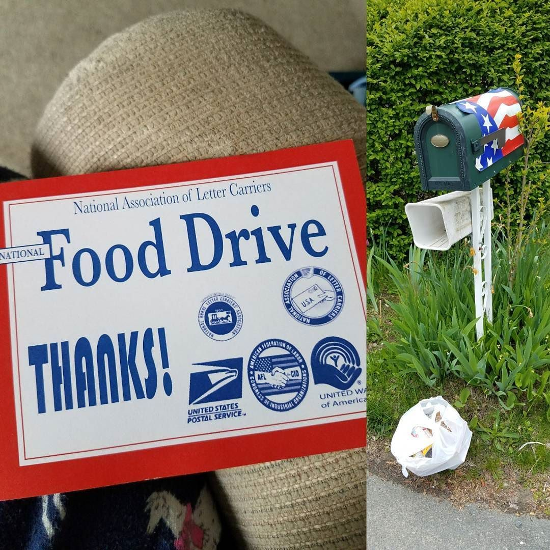 Today's the day! Leave food by your mailbox to support