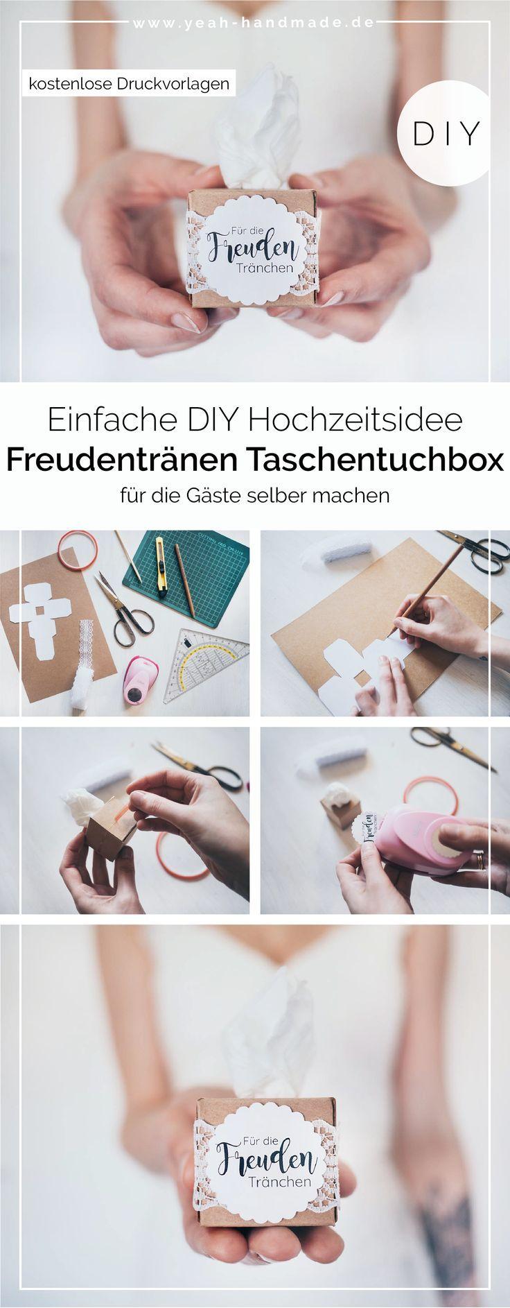 Photo of DIY Freudentränen Taschentücher zur Hochzeit selber machen – Yeah Handmade