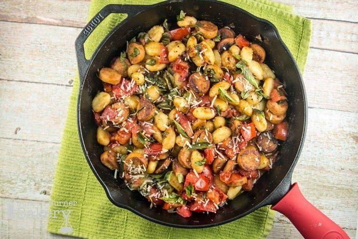 Gnocchi, Sausage, and Tomato Skillet