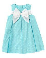 Bow Sash Dot Dress... Can't deny I want a girl and dress her in Tiffany blue!