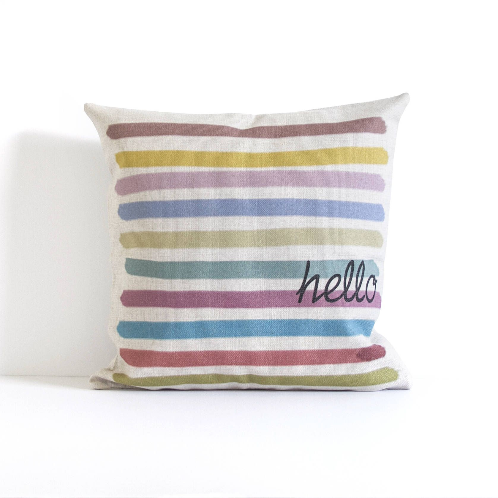 Colorful striped pillow cover throw pillow decorative pillow