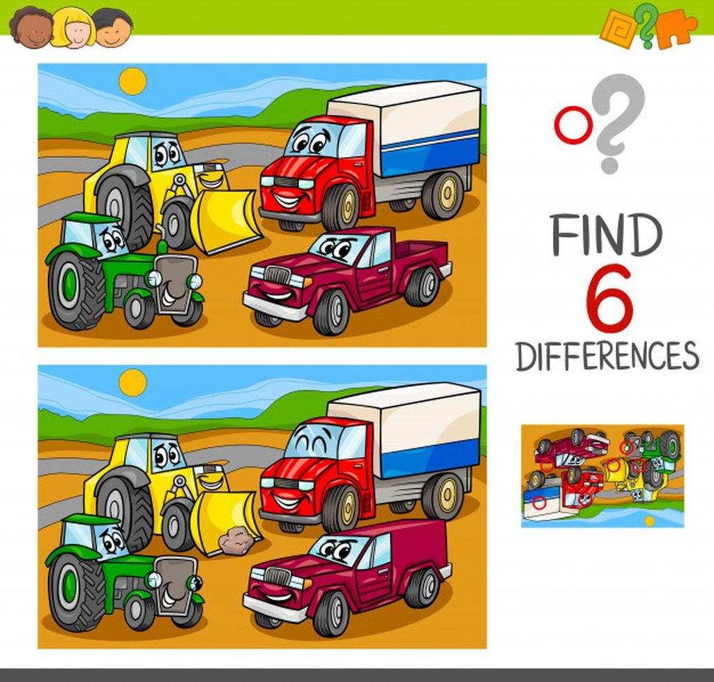 Spot The Differences With Cars And Vehicles Paid Paid