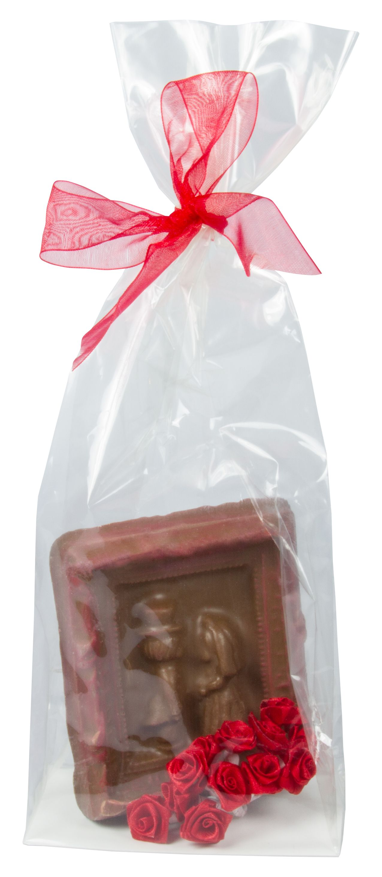 Chocolate Bride and Groom with Red Flowers. Available in milk, dark ...