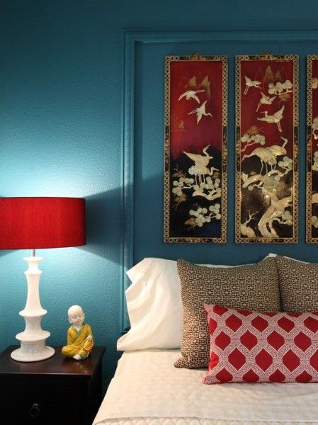 inspiring red turquoise living room | combining turquoise brown red gold in a room | Red And ...