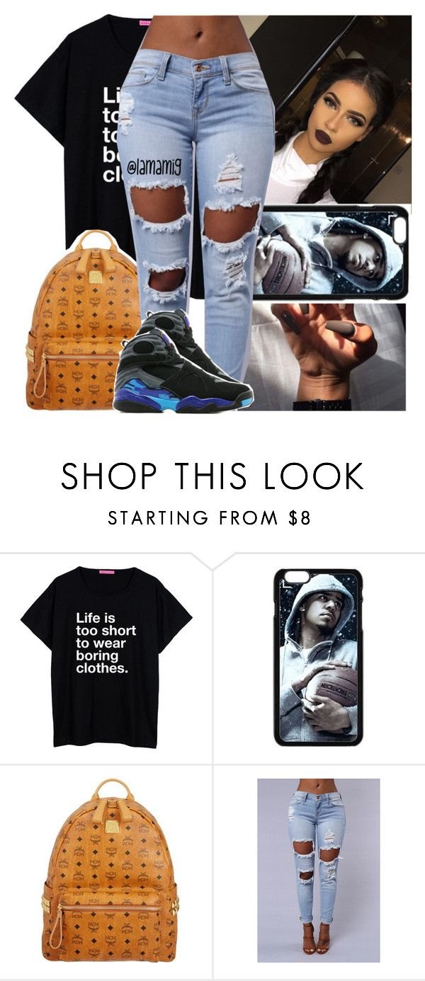 """""""i'm never sour, i'm just smokin something much louder✨"""" by lamamig ❤ liked on Polyvore featuring MCM, Jordan Brand, women's clothing, women, female, woman, misses and juniors"""