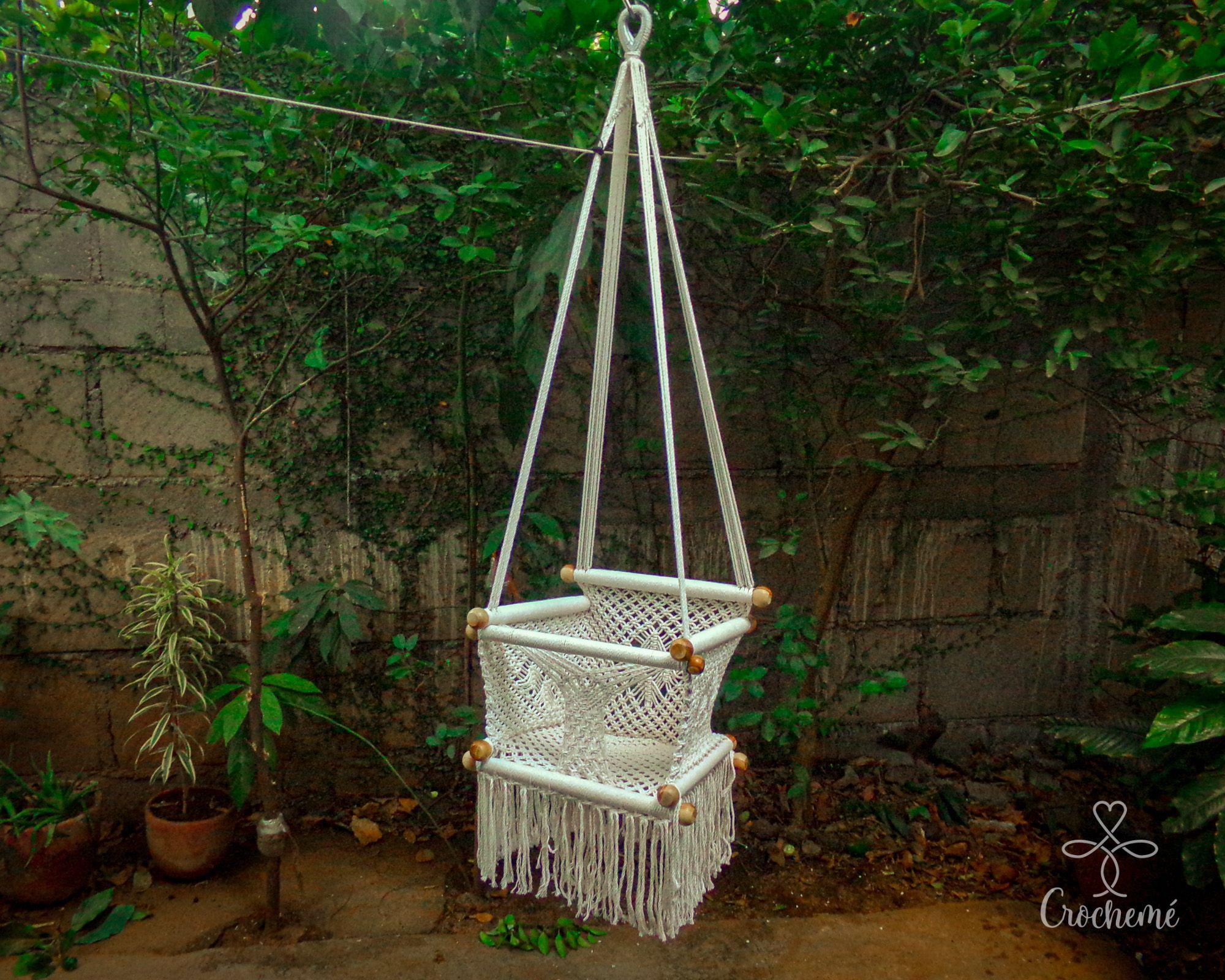 Baby Chair swing [ Our macramé baby swing chair hammock