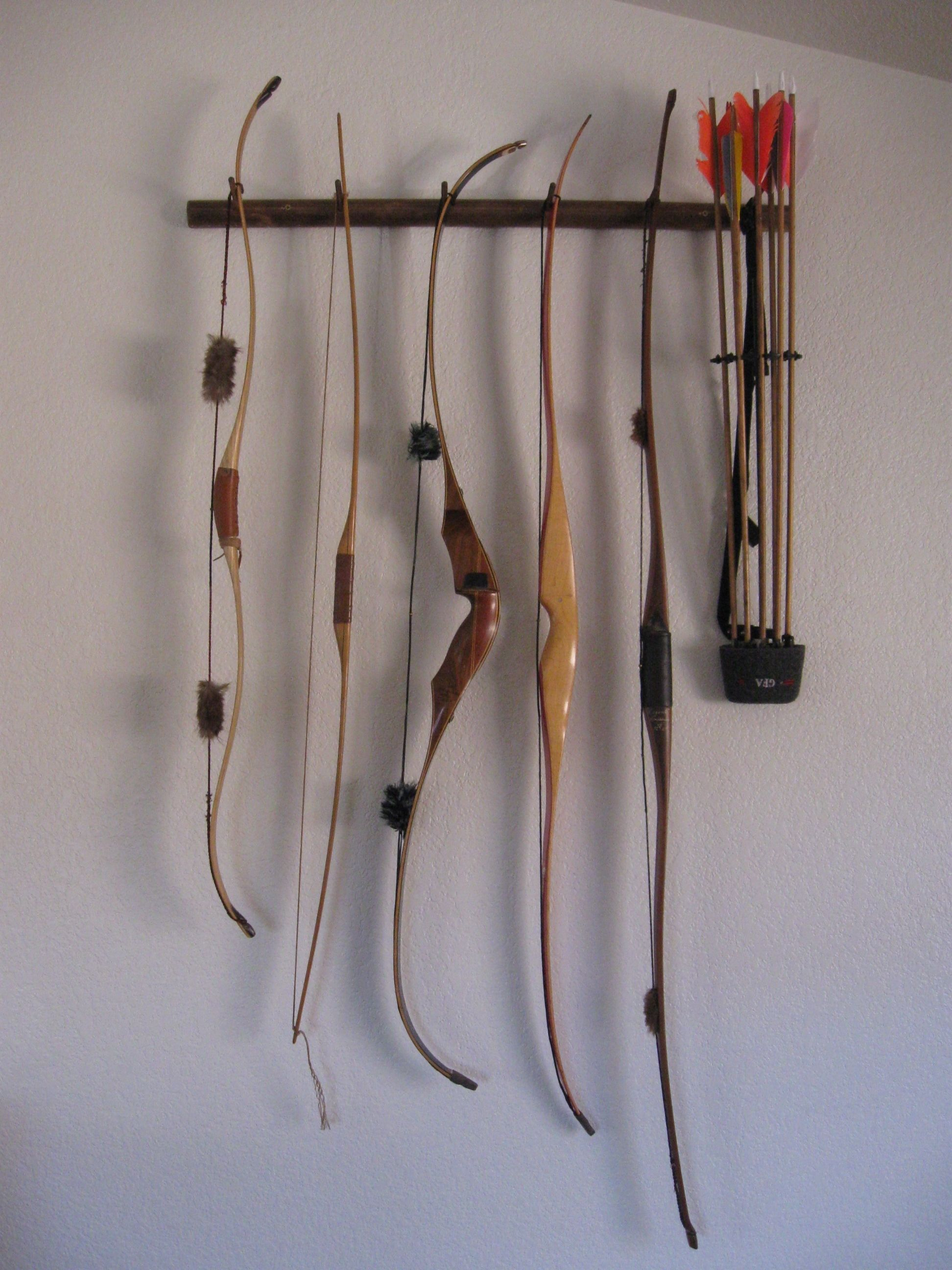 I Built This Rack To Display My Longbow And Recurve Bows