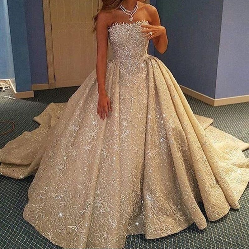 Luxury Lace Wedding Dresses Ball Gowns From Dubai  08cc1fcf6969