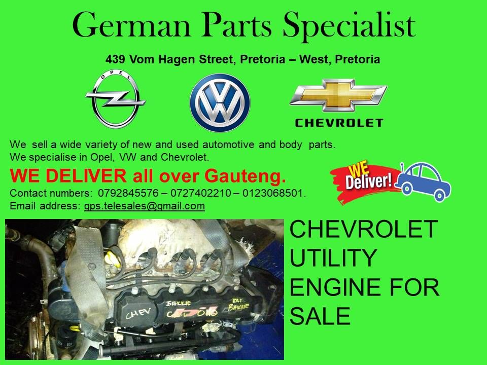 Chevrolet Utility Engine For Sale Engines For Sale Opel Engineering