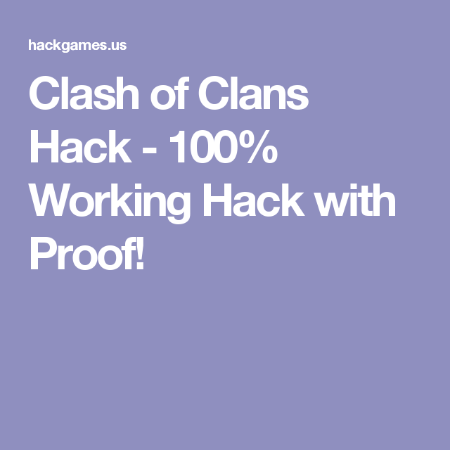 clash of clans hack 100 working with proof