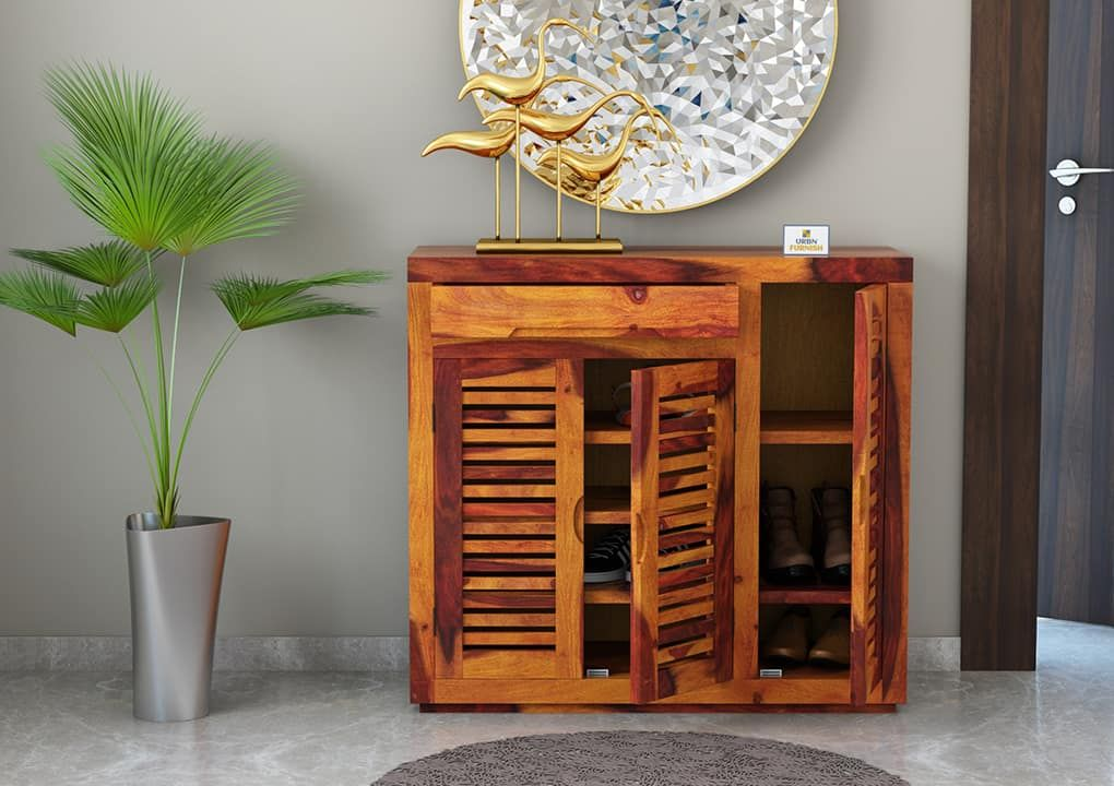 𝐉𝐨𝐮𝐬𝐤𝐚 𝐒𝐡𝐨𝐞 𝐑𝐚𝐜𝐤 wood furniture store sheesham wood on shoe rack wooden with door id=70010