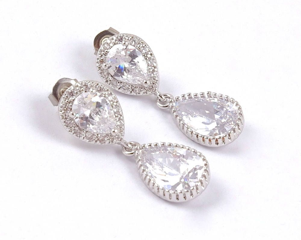 crystal pin the wedding earrings valentine s bride heart day gift of swarovski mother