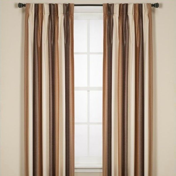 Faux Dupioni Silk Lafayette Lined Single Curtain Panel
