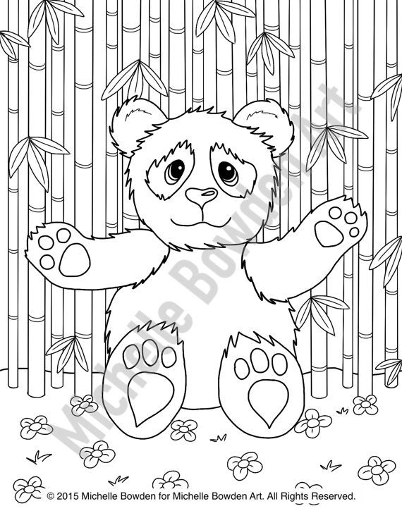 Coloring Page Printable Panda Teddy Bear by ...