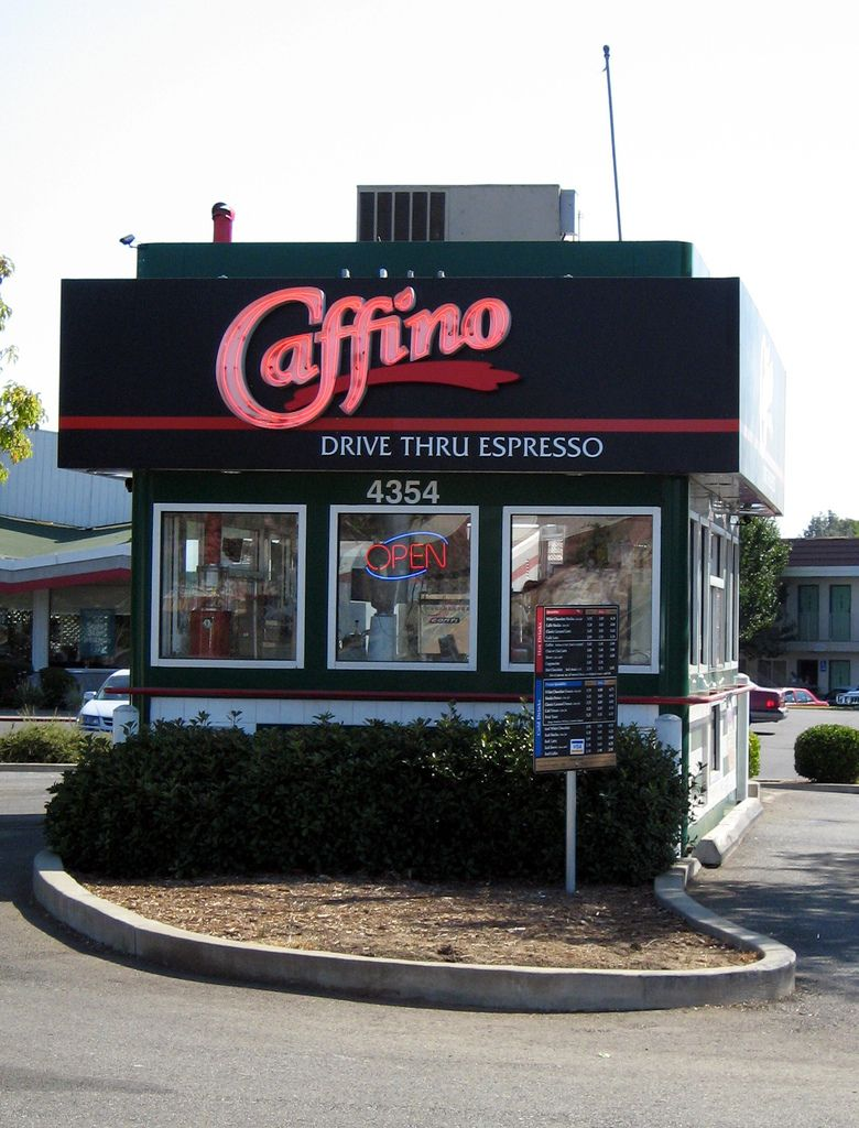 Caffino Mobile Coffee Shop Drive Thru Coffee Small Coffee Shop