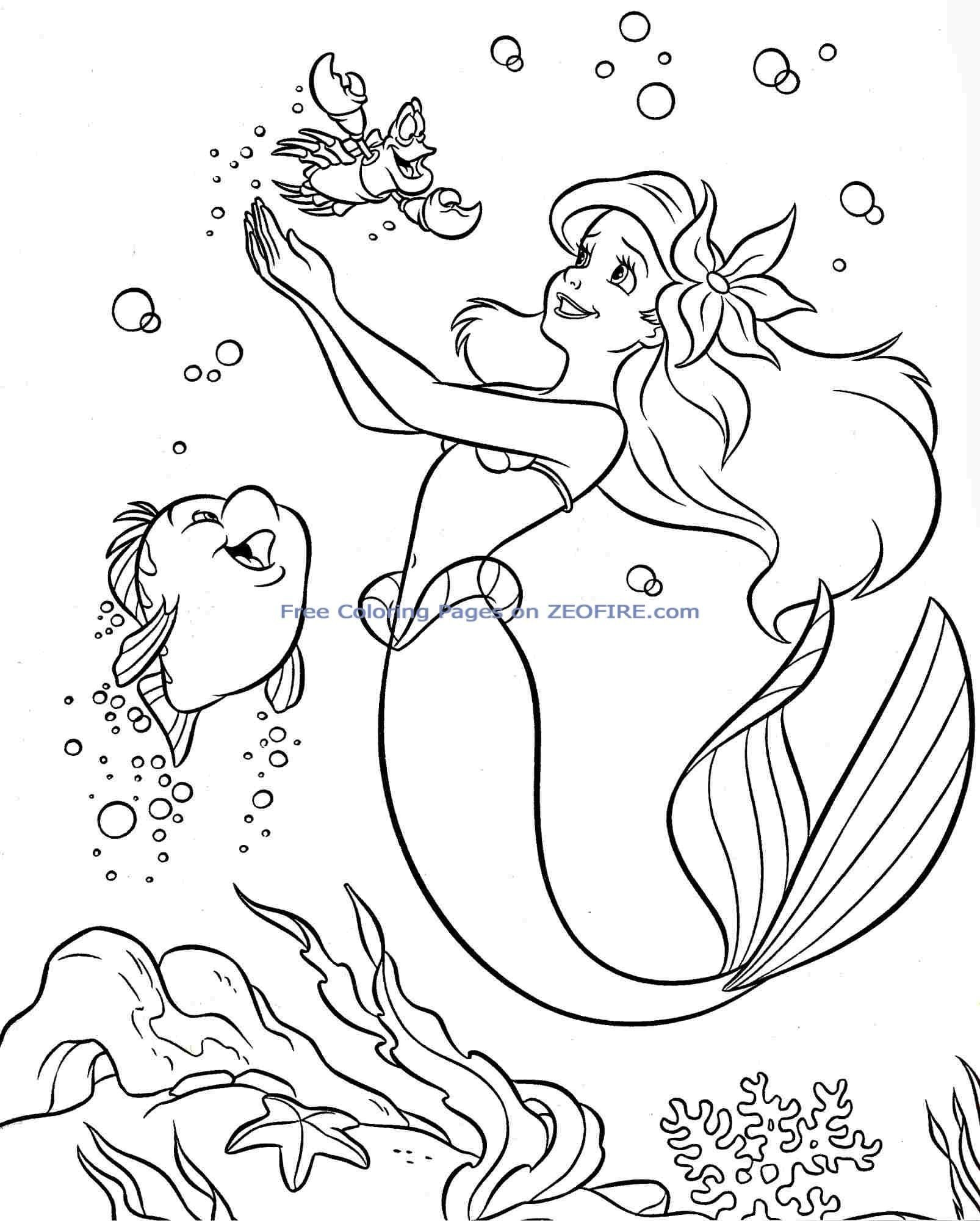 Disney Princess Ariel Coloring Pages Disney Mermaid Coloring Pages Mermaid Pictures To In 2020 Free Disney Coloring Pages Ariel Coloring Pages Princess Coloring Pages
