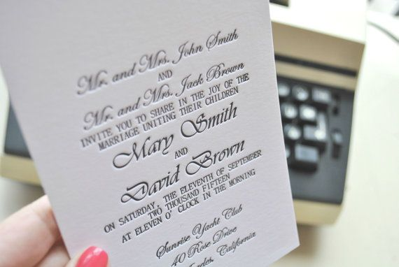 affordable letterpress wedding invitation #simple #rustic ... |Inexpensive Wedding Invitations Letterpress