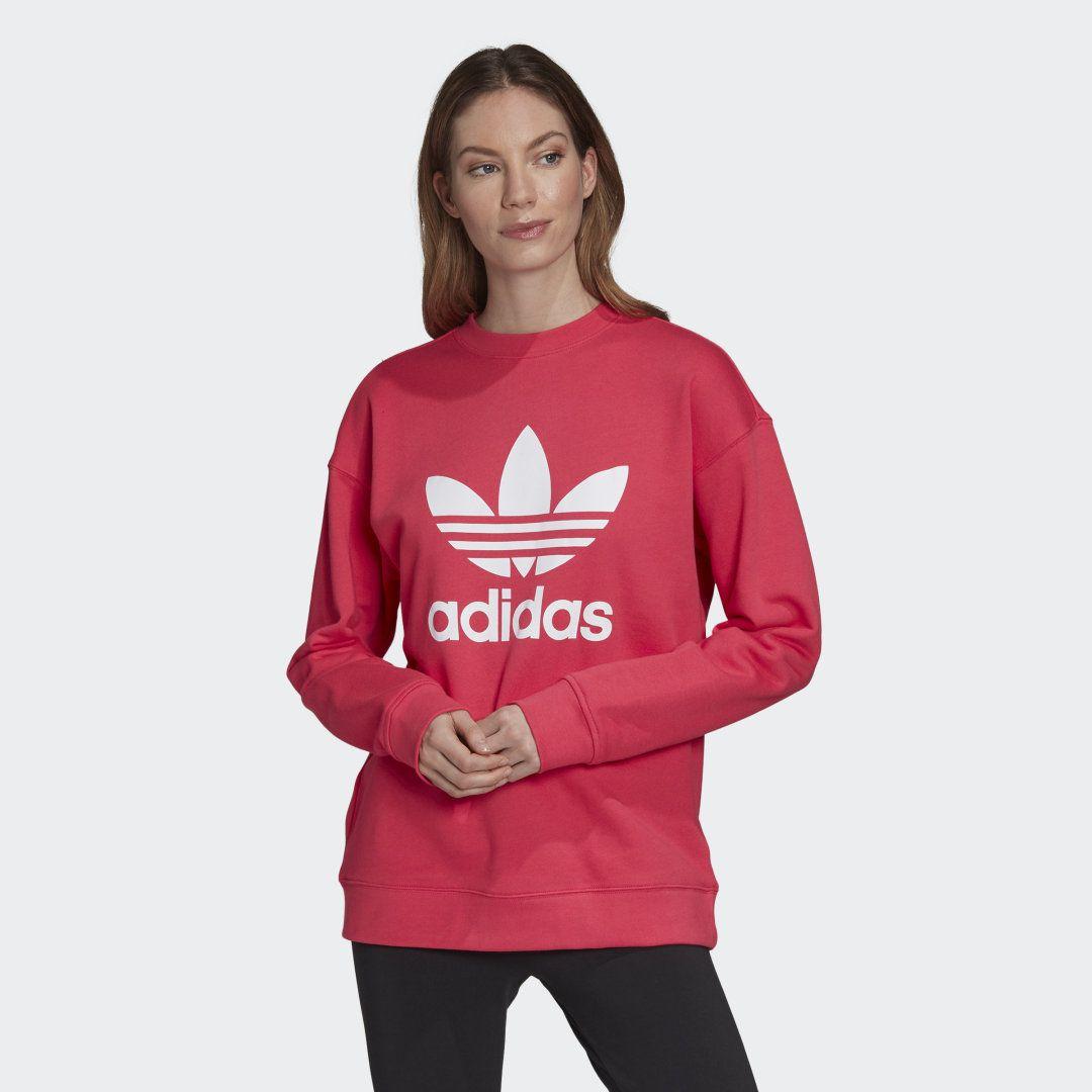 Adidas Trefoil Sweatshirt Rosa Adidas Deutschland Sweatshirts Crew Sweatshirts Adidas Originals Pink [ 1080 x 1080 Pixel ]