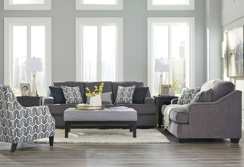 Miraculous Ashley Gilmer Gunmetal Sofa Loveseat Accent Chair Dailytribune Chair Design For Home Dailytribuneorg