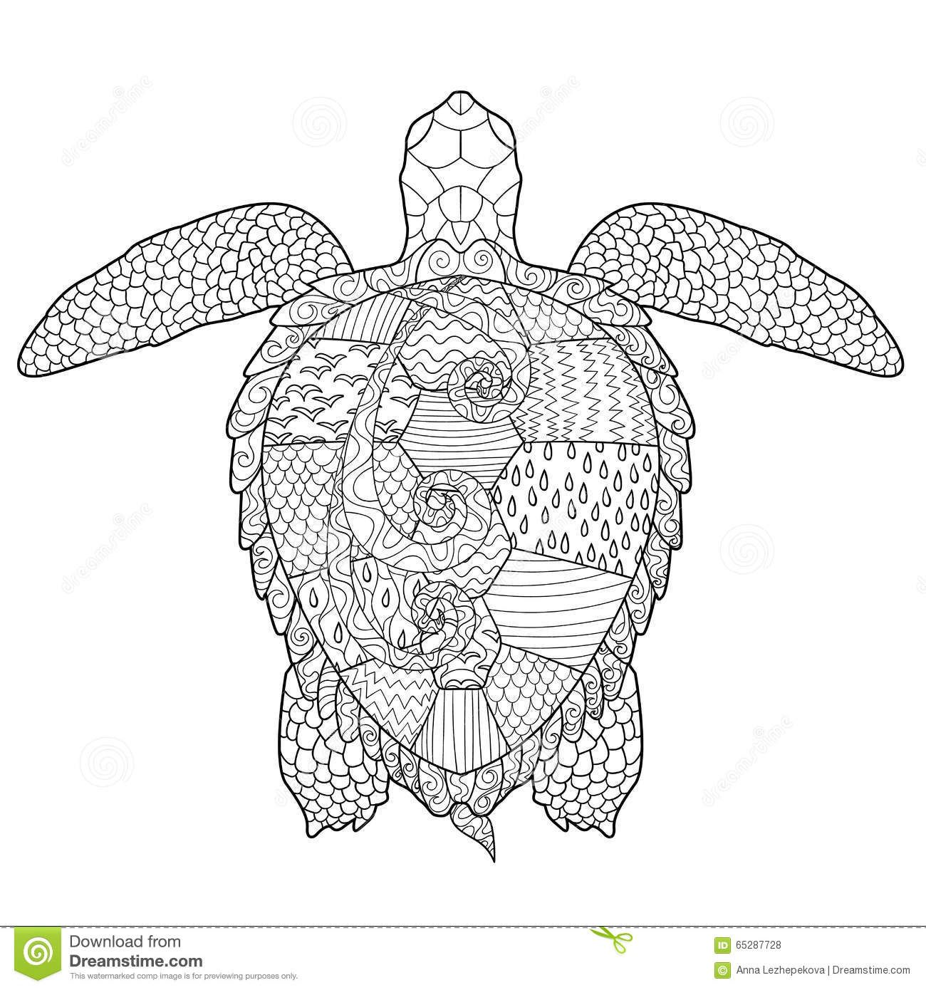 Tattoo Printable Coloring Pages Turtle - Worksheet & Coloring Pages