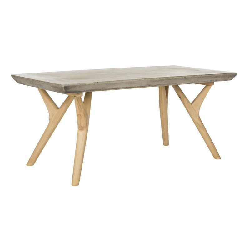 Union Rustic Ryker Concrete Coffee Table Wayfair Concrete Coffee Table Coffee Table Rectangle Simple Coffee Table