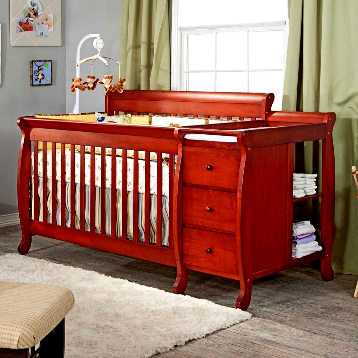 Convertible Sorelle Cribs In Exact Design Changing Table Dresser
