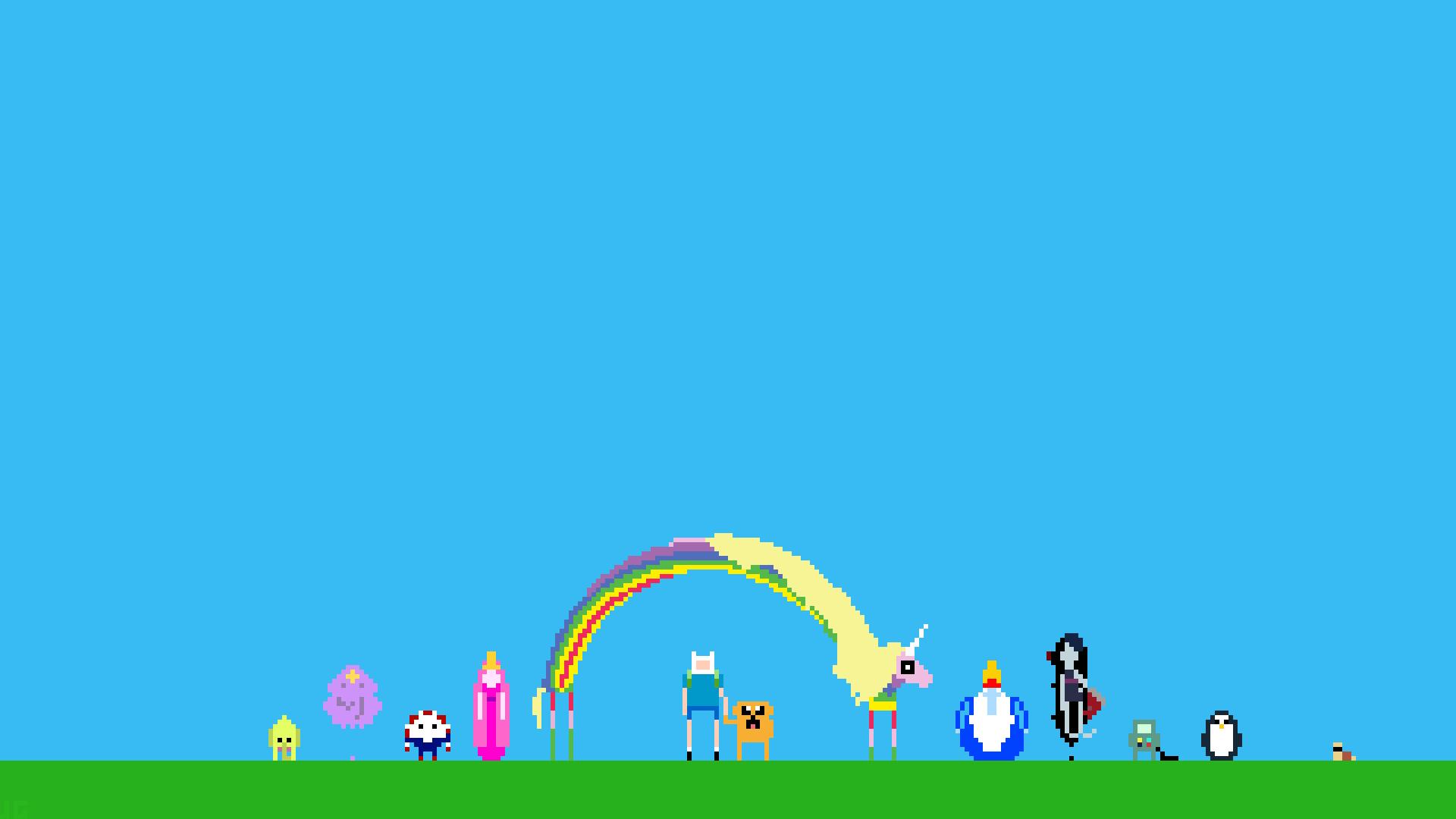 General 1920x1080 Adventure Time pixel art Pixel Art