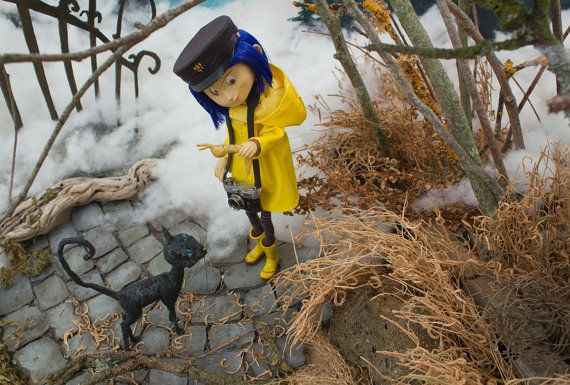 Coraline 7 Quot Bendy Doll Handcrafted Cat Handmade Quot Foggy Raincoat Quot Outfit Inspired Customization And Coraline Coraline Film Coraline Aesthetic