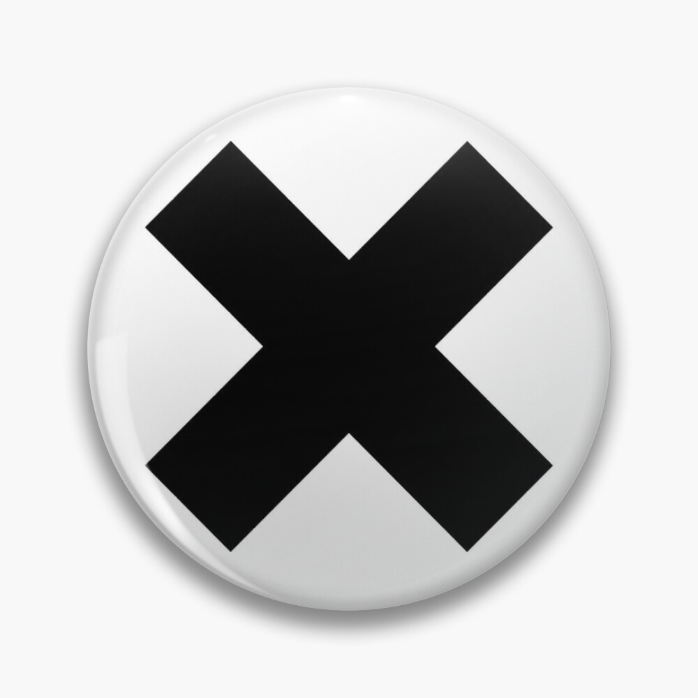 Big X Crossed Out Design Pin By Drugaya Redbubble Design Buttons Pinback Funny Tshirts