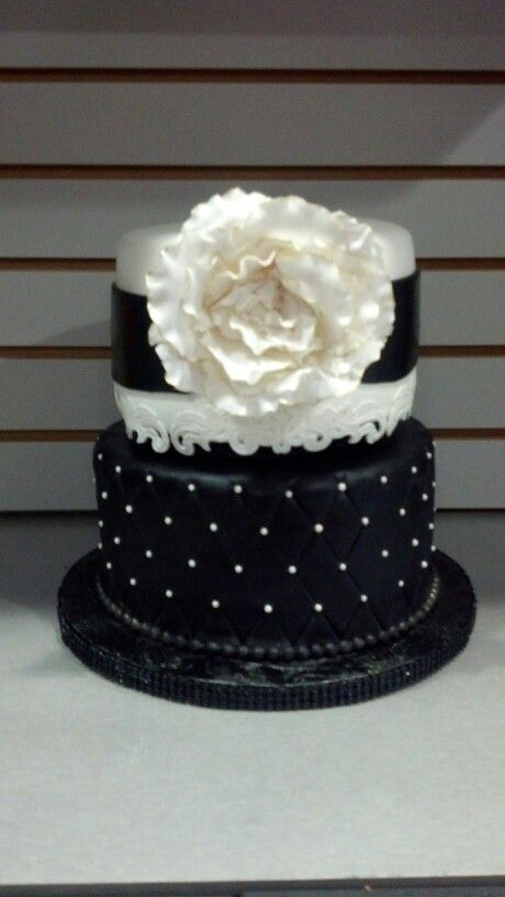 Simply Sweet By Helen Black And White Birthday Cake Sweet Th - 35th birthday cake ideas
