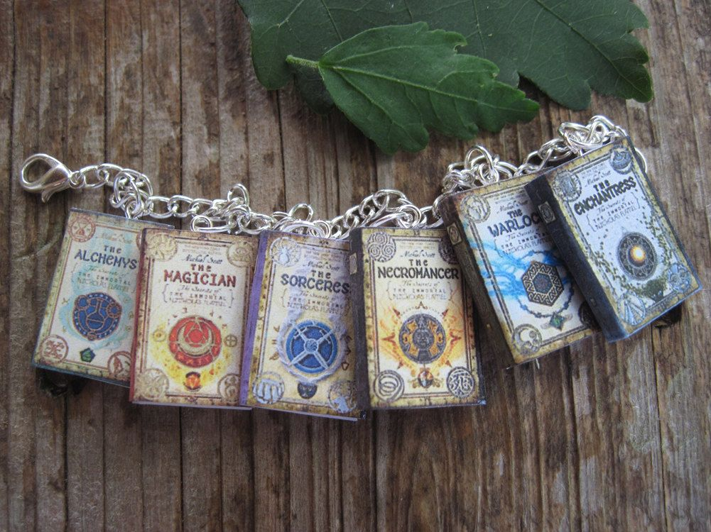 The Secrets of the Immortal Nicholas Flamel Book Bracelet. $18.99, via Etsy.