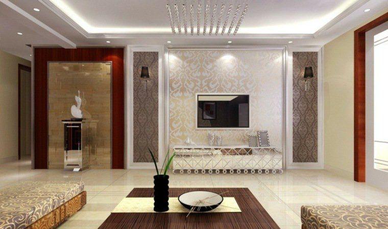 Poser un faux plafond id es et conseils salon l gant for Faux plafond salon villa
