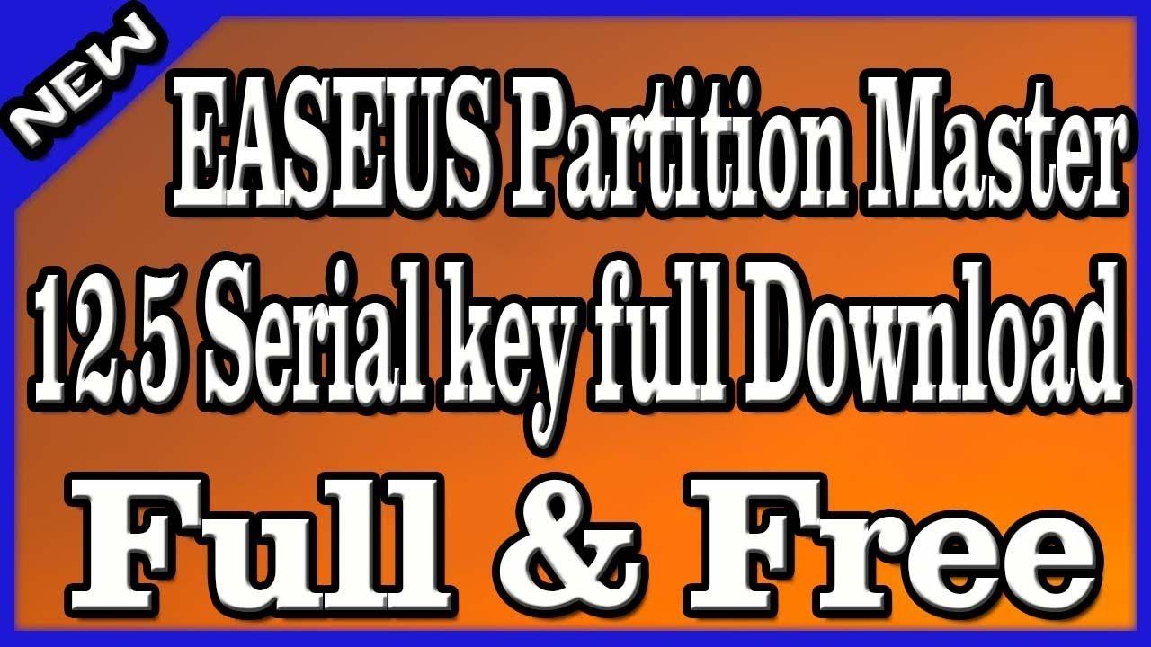 easeus partition master 12.8 license key 2018