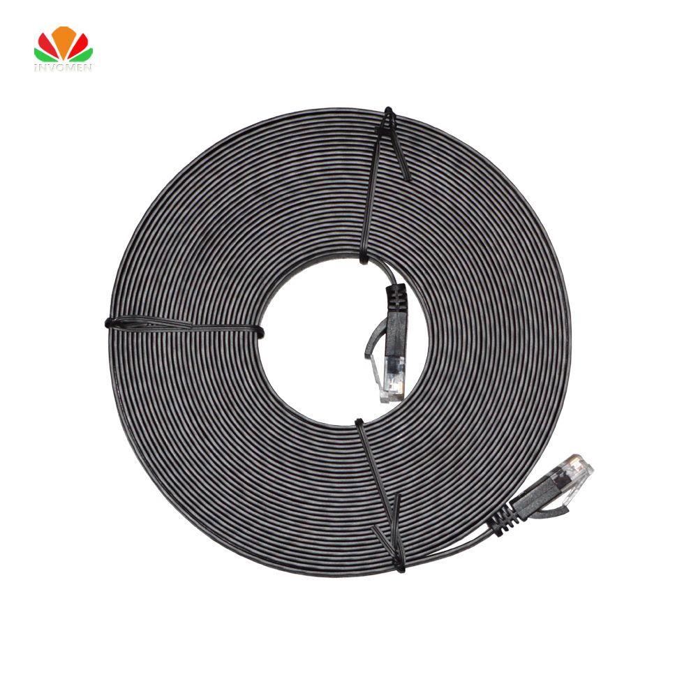 Gray Cat6 Gigabit Utp Cable Network Ethernet Patch Cord Cat 5e Bootless Cables Cat5e Blue 20 33ft 10m Flat Rj45