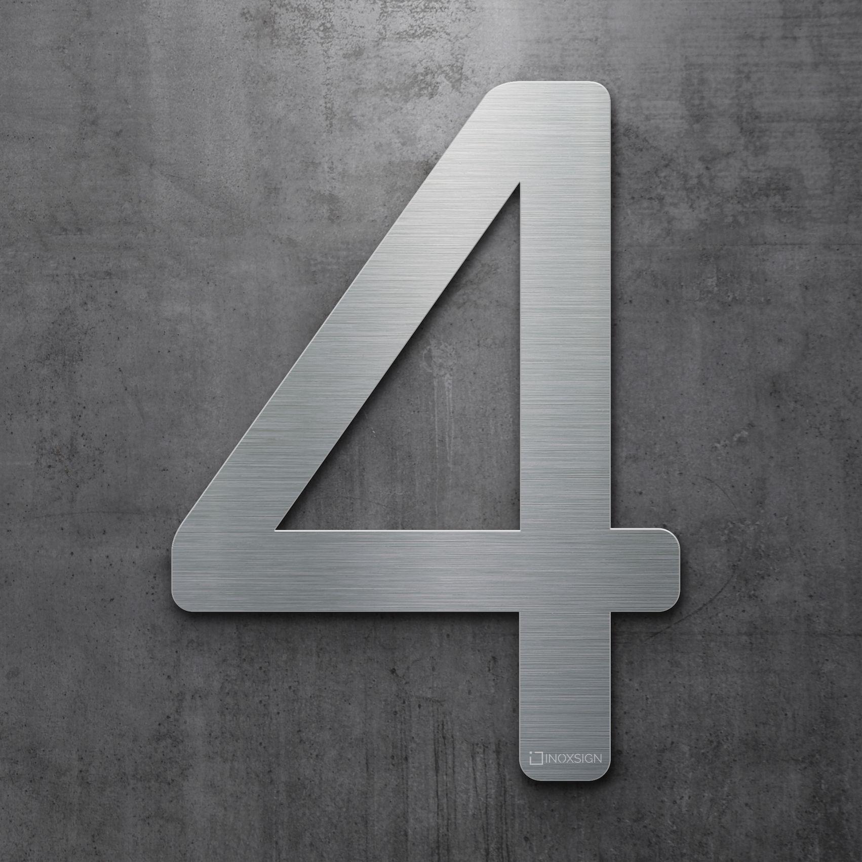 neu inoxsign edelstahl hausnummer 4 moderne hausnummern aus