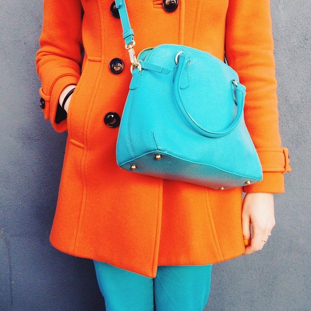 Shiny Thoughts wears Boden Ledbury Pea Coat, Jeans, Westminster Bag & Breton Top. March 2015