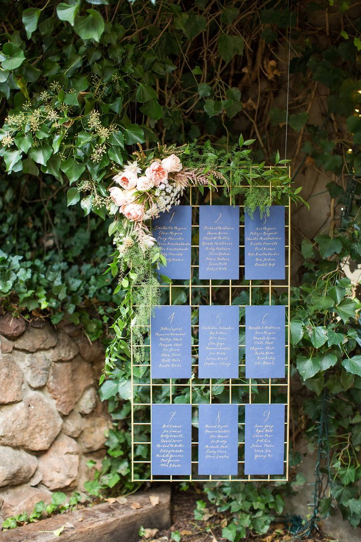 Garden wedding stage decoration  These type of hanging metal grids with floral attached would make a