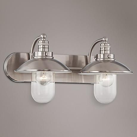 Minka Lavery Downtown Edison 2 Light Bath 5132-84 Brushed Nickel