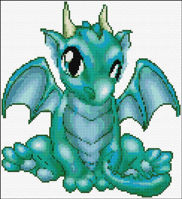 Http free cross stitch patterns to print dragon