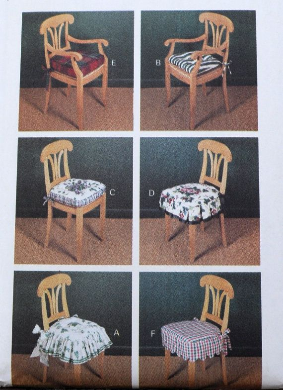 Butterick 3278 Waverly Design Chair Pads U0026 Cushions By Clutterina