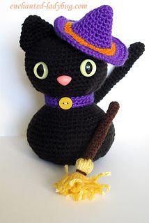Ravelry: Amigurumi Halloween Black Cat pattern by The Enchanted Ladybug
