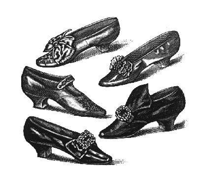 Elizabethan Era Womens Upperclass Shoes