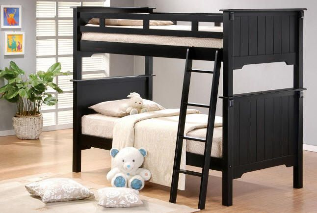 Lincolnshire Twin over Twin Bunk Bed | Black Bunk Beds | Bunk Beds ...
