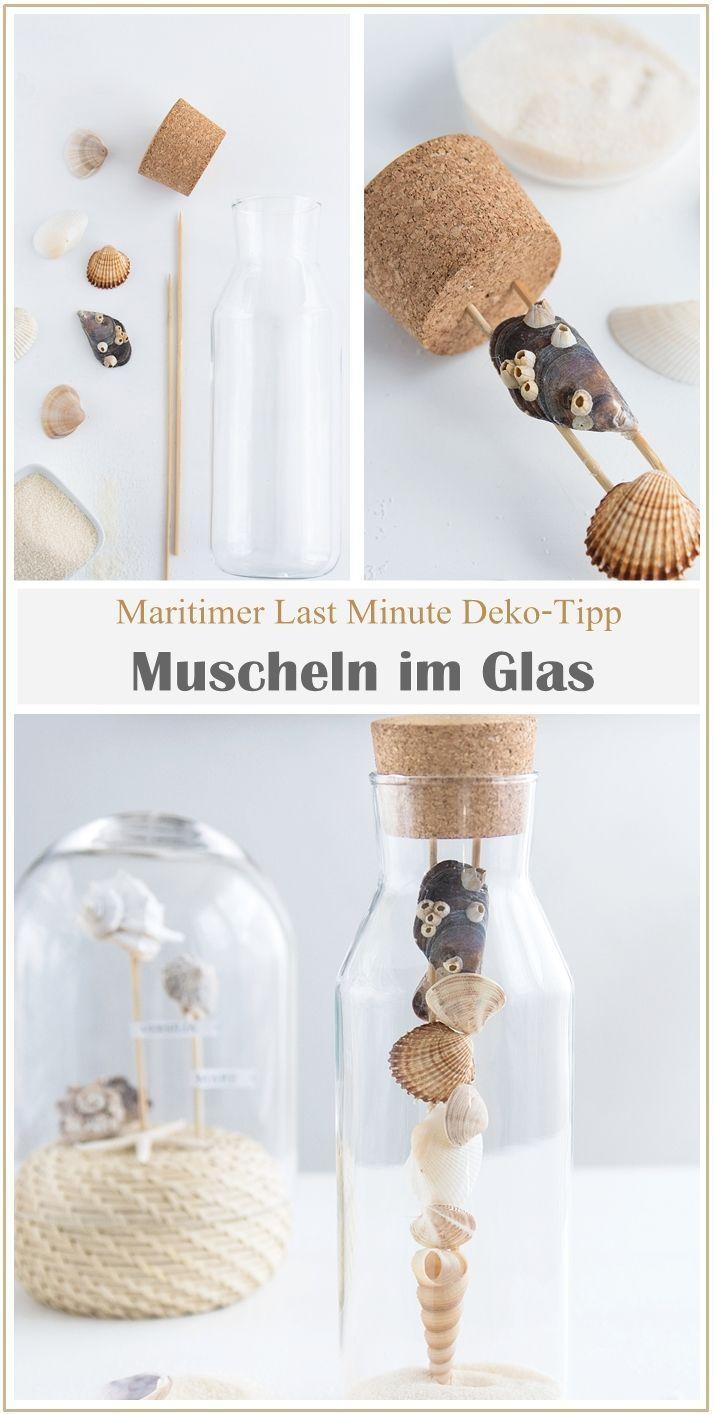 Photo of Maritime Deko unter der Glashaube + Mini IKEA Hack – Sinnenrausch – Der kreative DIY Blog für Wohnsinnige und Selbermacher