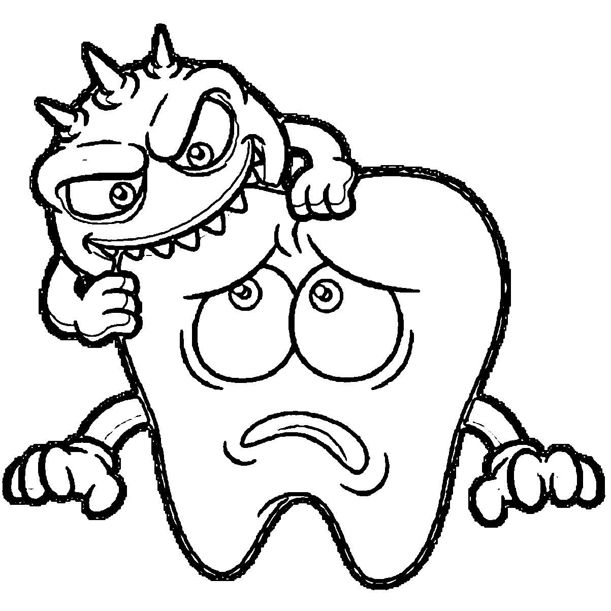 Tooth Coloring Pages Dental Coloring Pages Wecoloringpage
