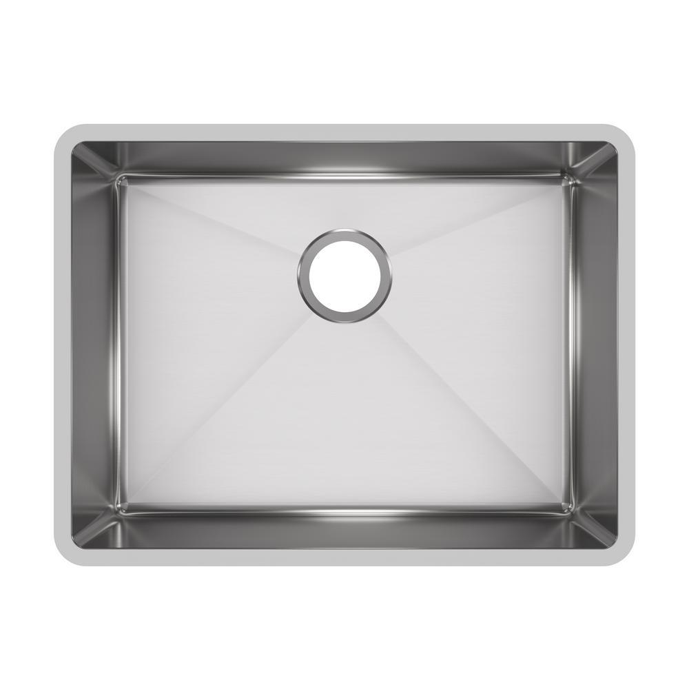 Elkay Crosstown Pro Undermount Stainless Steel 24 In Single Bowl Kitchen Sink Hdu24189f Single Bowl Kitchen Sink Ledge Kitchen Sinks Undermount Kitchen Sinks